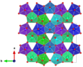 Becquerelit - packing c-axis uranyl units coloured - single layer.png