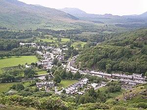 Beddgelert - Image: Beddgelert from Mynydd Sygun