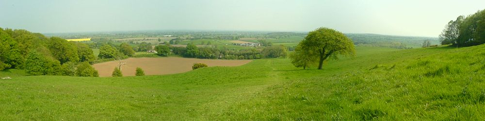 The Cheshire Plain from the Mid-Cheshire Ridge.
