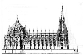 Prussian National Monument for the Liberation Wars - Schinkel's sketch for a memorial church.