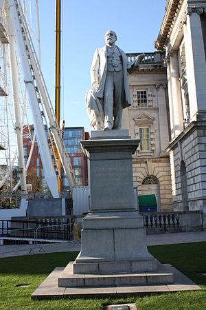 James Horner Haslett - Statue of Sir James Haslett outside Belfast City Hall