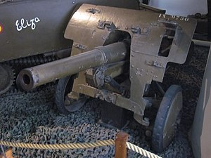 47 mm Model 1931 anti-tank gun - An example from the Royal Museum of the Armed Forces and Military History, Brussels