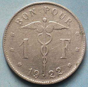 Belgie 1 frank 1922.JPG