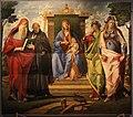 Benedetto diana, madonnain trono tra i ss. girloamo, benedetto, maddalena e giustina.JPG
