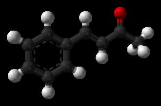 Benzylideneacetone - Image: Benzylideneacetone 3D balls
