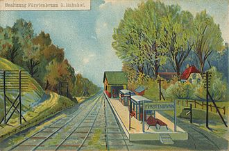Siemensstadt-Fürstenbrunn station - Fürstenbrunn (later Siemensstadt-Fürstenbrunn) station