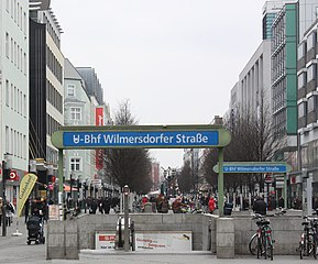 english berlin charlottenburg the street wilmersdorfer stra e underground station. Black Bedroom Furniture Sets. Home Design Ideas