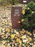 Berlin Friedrichsfelde Zentralfriedhof, Pergolenweg - Baier, Adolf