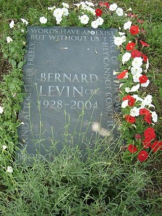 Bernard Levin - Funerary monument, Brompton Cemetery, London
