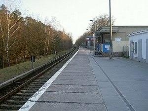 Strausberg Hegermühle station - Station building