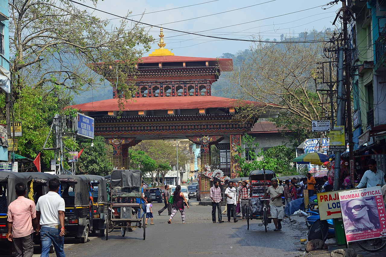 Bhutan gate from Jaigaon