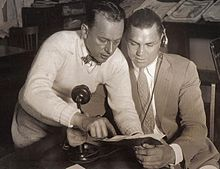 Photograph of Billy DeBeck with Jack Dempsey