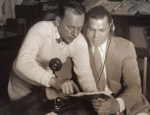 Billy DeBeck - Sports fan DeBeck with boxing heavyweight champion Jack Dempsey in 1919.