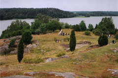 2004 gravningen ved Garnisonen på Björkö - set fra Borgbjerget