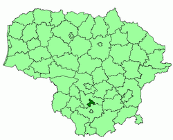 Location of Birštonas municipality within Lithuania
