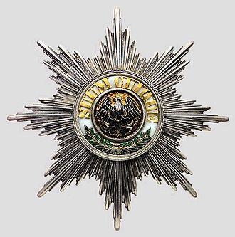 Order of the Black Eagle - Image: Black Eagle Order star