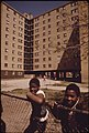 Black Youngsters Outside The Stateway Gardens Highrise Housing Project On Chicago's South Side, 05-1973 (8674906053).jpg