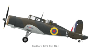 Blackburn Roc - Roc Mk.I L3154, 805 sqn., RNAS Donibristle, 1940