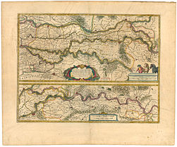 Blaeu 1645 - Tractus Rheni et Mosæ totusq Vahalis a Rhenoberca Gorcomium usque cum terris adjacentibus.jpg