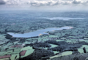 Blagdon Lake - Aerial photograph showing Blagdon Lake in the foreground and Chew Valley Lake in the distance.