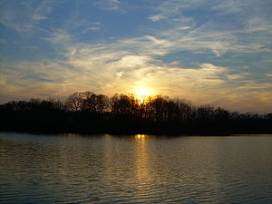 Milford, Delaware - Sunset over Blair's Pond