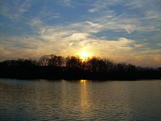 Milford, Delaware - Sunset over Blair's Pond