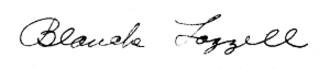 Blanche Lazzell - Image: Blanche Lazzell signature