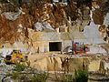 Blocks of marble in Carrara marble quarry 6386.jpg