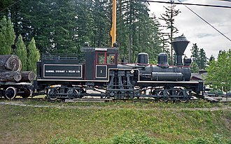 BC Forest Discovery Centre - Image: Bloedel Stewart & Welch steam locomotive 1 Shay at Forest Museum Duncan BC 16 Jul 1995