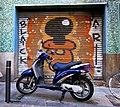 Blue Bike Black Art Gràcia, Barcelona (37450774392).jpg