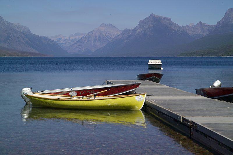 File:Boats tied up on Lake McDonald (4457743509).jpg