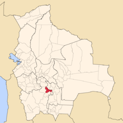 Location of the Cornelio Saavedra Province within Bolivia