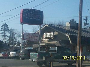 Ponderosa Steakhouse and Bonanza Steakhouse - A Bonanza steakhouse in Marquette, Michigan. This location has since closed.