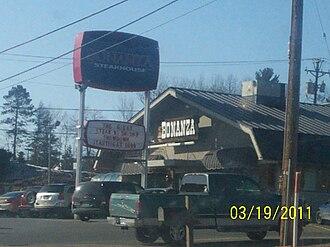 Ponderosa and Bonanza Steakhouses - A Bonanza steakhouse in Marquette, Michigan, in 2011. This location has since closed.