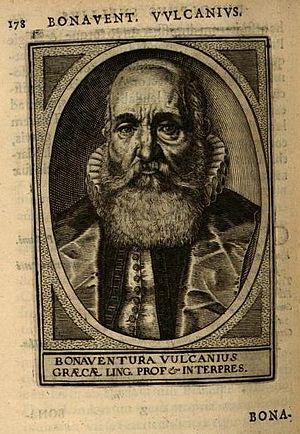 Bonaventura Vulcanius - Bonaventura Vulcanius in Alma Academia Leidensis