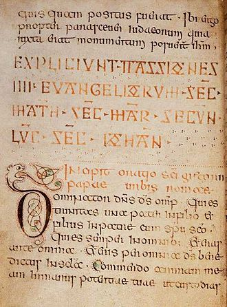 Book of Nunnaminster - This page from the Book of Nunnaminster contains a zoomorphic initial 'd'.