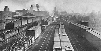 History of Fort Worth, Texas - Texas and Pacific Railway yard in Fort Worth, 1916
