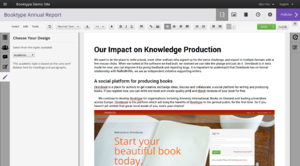 Booktype - Image: Booktype Version 2 Editor Screenshot