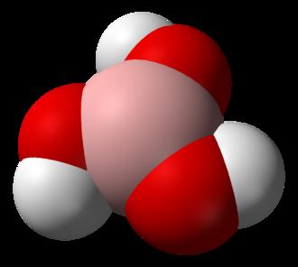 Boric acid - Image: Boric acid 3D vd W