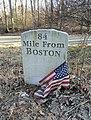 Boston Post Road marker, replica - Palmer, MA - DSC04685.JPG