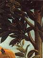 Botticelli, nascita di venere, lumeggiature nella vegetazione.jpg