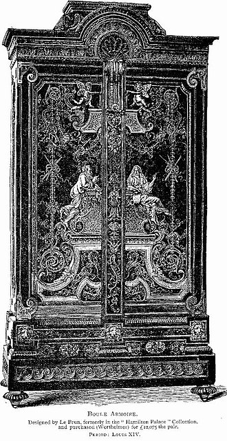 Hamilton Palace - A Louis XIV armoire sold in 1882, and now in the Louvre