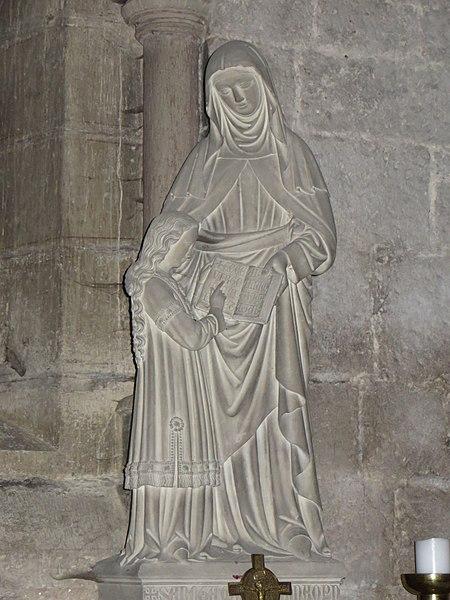 Bourbonne-les-Bains (Haute-Marne, France), église Notre-Dame de l'Assomption, statue Ste Anne et Marie dite aussi éducation de la Vierge.