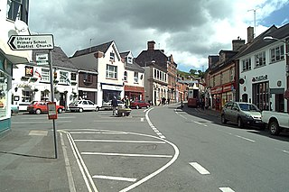 Bovey Tracey village in United Kingdom