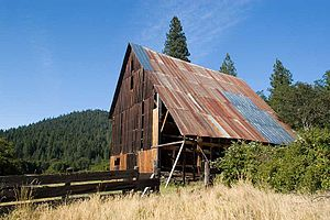 National Register of Historic Places listings in Trinity County, California - Image: Bowerman Barn