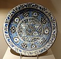 Bowl with six-pointed star, Iran, probably Jovein, end of 14th century AD, composite body, underglaze painted - Huntington Museum of Art - DSC04988.JPG