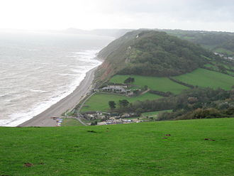 Branscombe - Branscombe Mouth from East Cliff