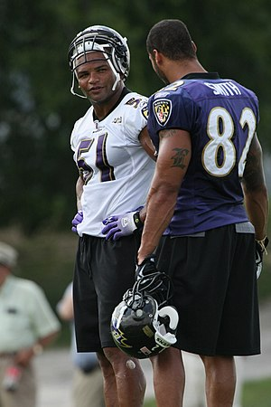 Brendon Ayanbadejo - Ayanbadejo at Ravens training camp, August 2009.