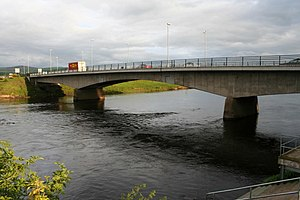 Strabane - The Lifford Bridge, linking Lifford in the Republic and Strabane in the North