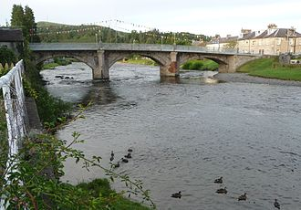 River Esk, Dumfries and Galloway - River Esk in Langholm